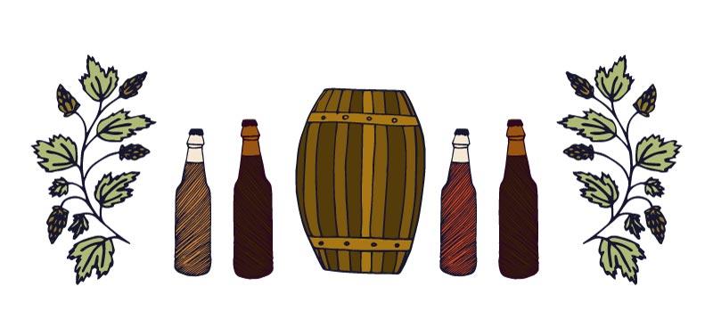 catar una cerveza artesanal - la botella