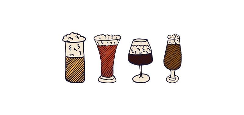 catar una cerveza artesanal- la copa