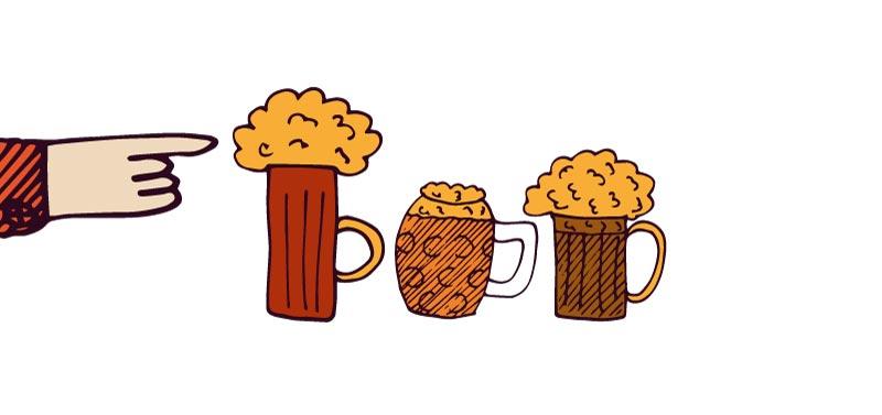 catar una cerveza artesanal - la espuma